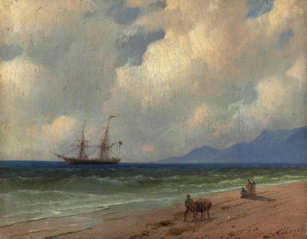 Иван Айвазовский - На берегу / Ivan Aivazovsky (1817-1900) On the shore