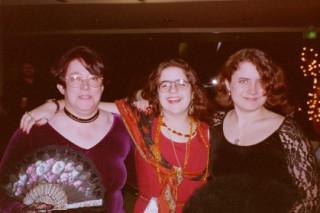 Pat W, Tina, and Nin at Bridging the Knight, Oct. 1996