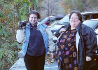 Nin and TamTam at Chimney Rock Fall 2000