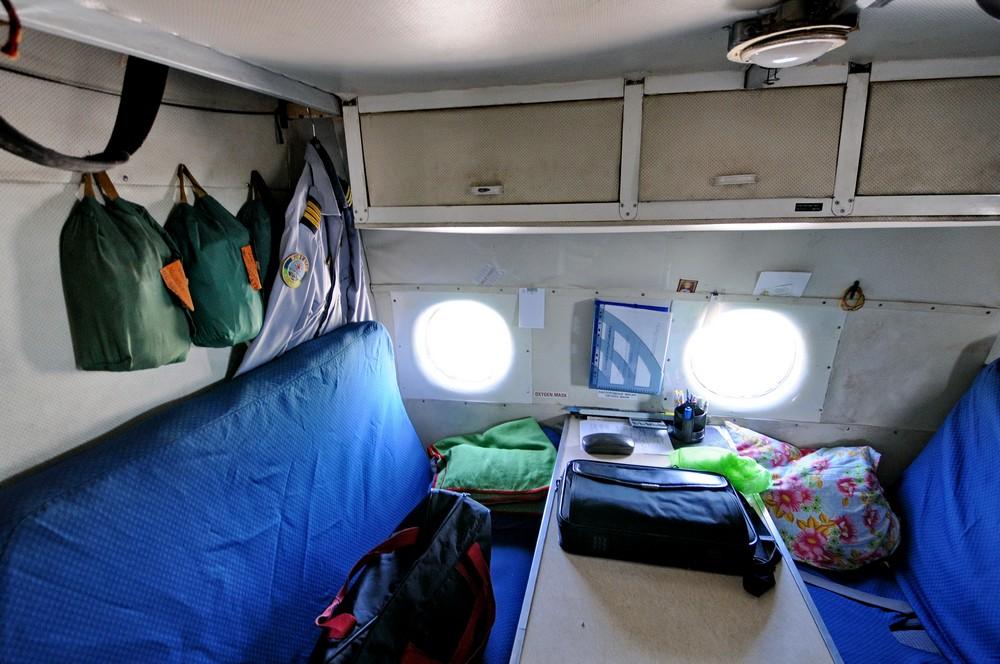 Кабина отдыха экипажа самолета Ан-12