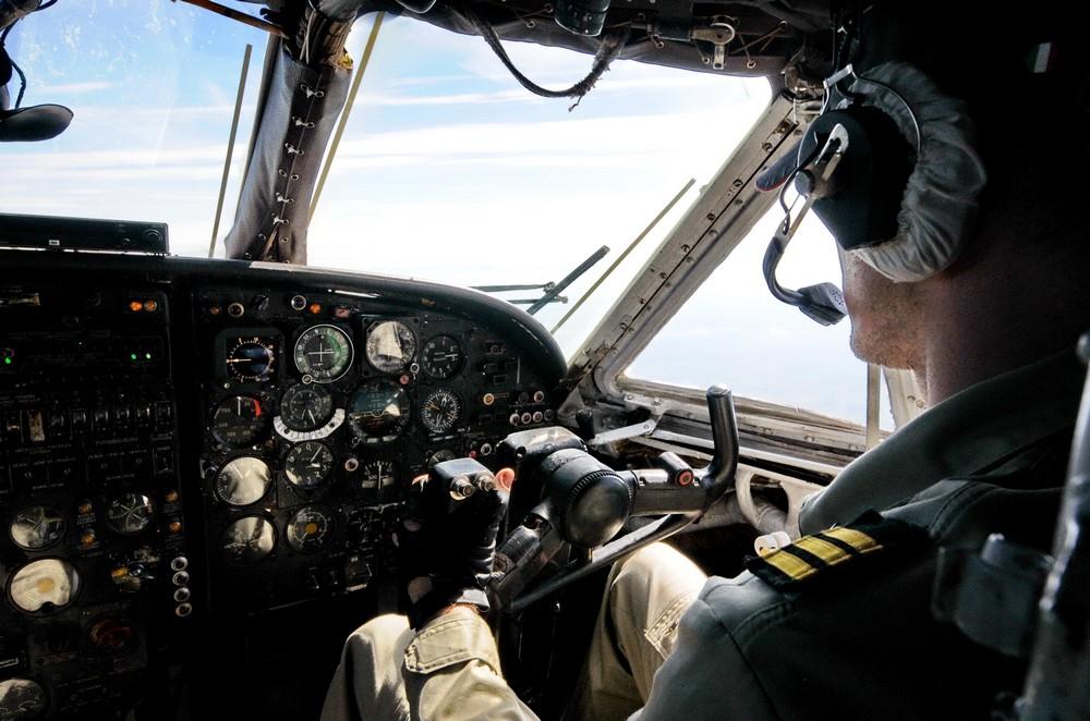 Самолет Вид из кабины пилотов