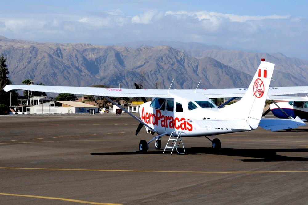 Самолет Сессна-172 авиакомпании Аэропаракас в аэропорту Наска