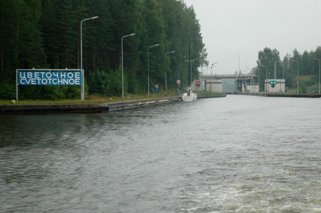 Сайменский канал в районе шлюза Цветочное
