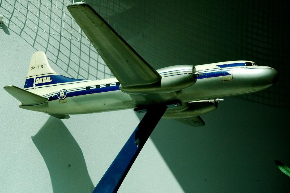 Модель самолета Convair-440 в Музее авиации в Хельсинки