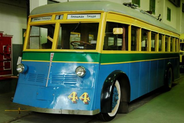 Троллейбус ЯТБ-1 в музее Городского электротранспорта