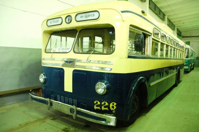 Троллейбус МТБ-82Д в музее электротранспорта
