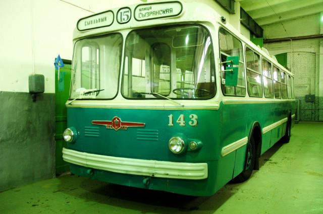 Троллейбус ЗиУ-5Г в Музее городского электрического транспорта