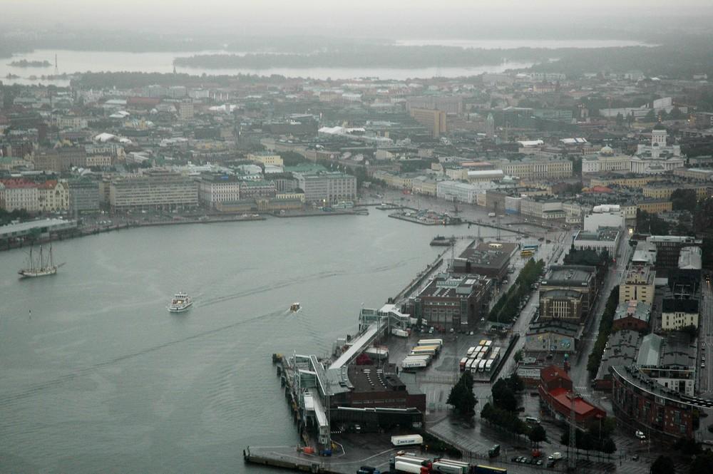 Вид на центр Хельсинки