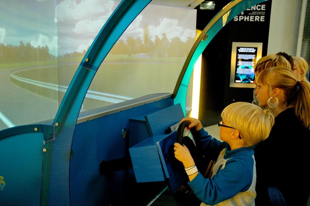 Автосимулятор в музее Эрвика в Тиккуриле