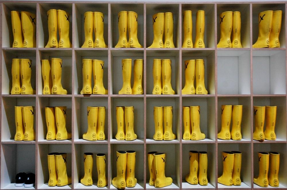 Резиновые сапоги для посещения выставки KlimaX