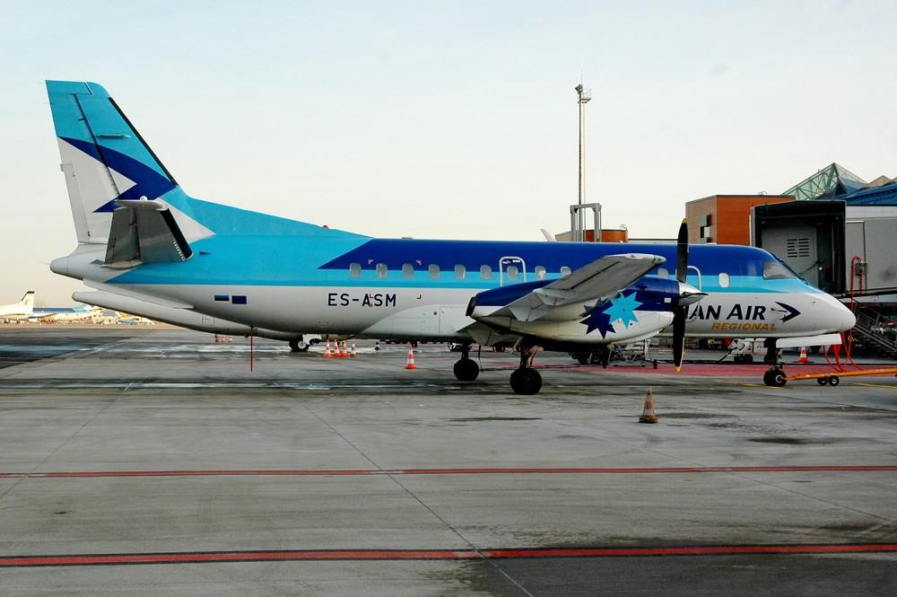 Saab-340 в аэропорту Таллина