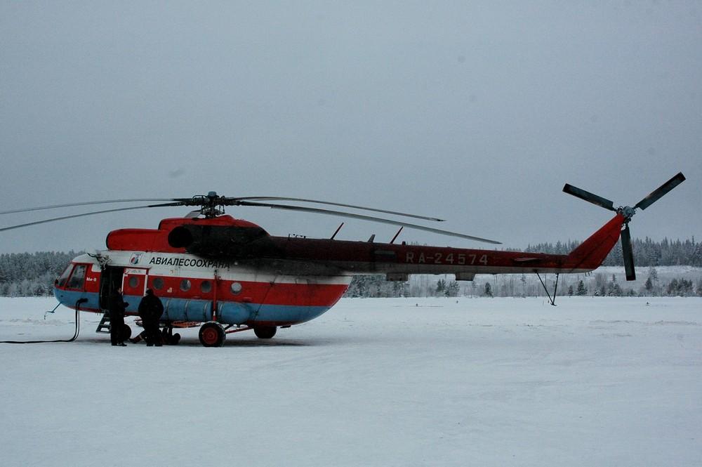 Наш Ми-8 Авиалесоохраны