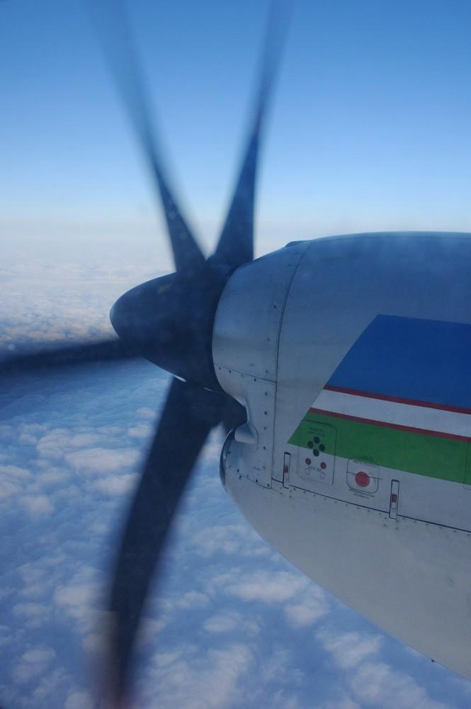 Вид на двигатель Ил-114