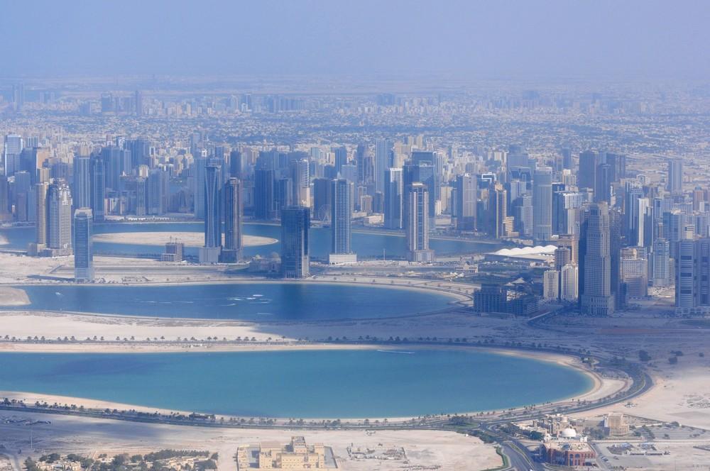 Панорама Дубая с самолета