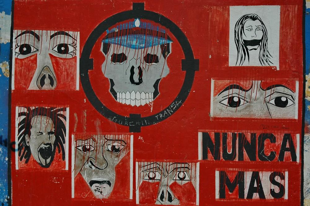 Граффити в районе Ла Бока в Буэнос-Айресе