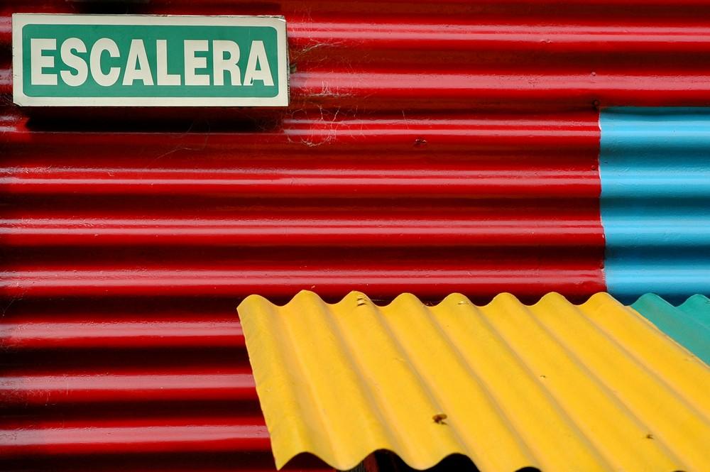 Разноцветные дома района Ла Бока в Буэнос-Айресе