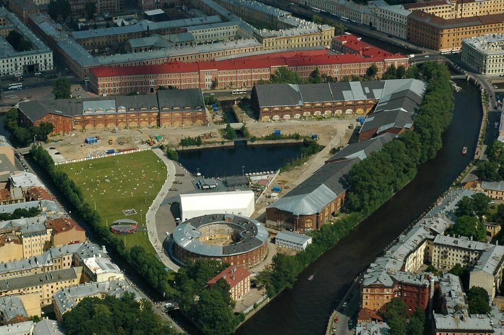 Новая Голландия в Санкт-Петербурге. Панорама с вертолета