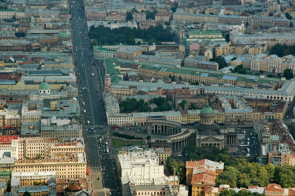Невский проспект. Вид с вертолета