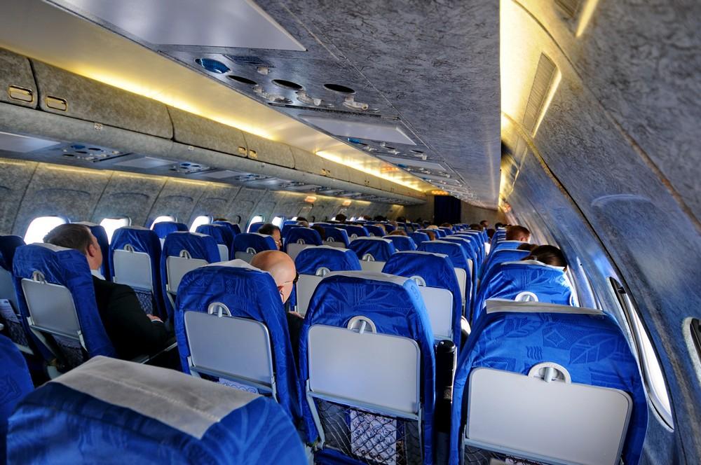 Салон Ту-154 авиакомпании ЮТэйр