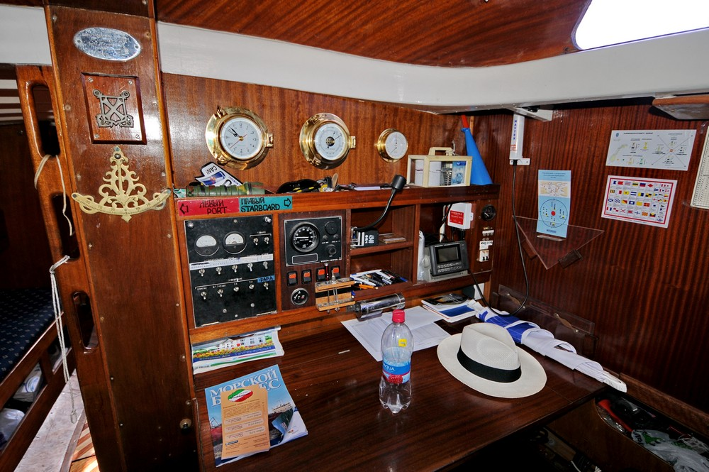Салон парусной яхты Русь