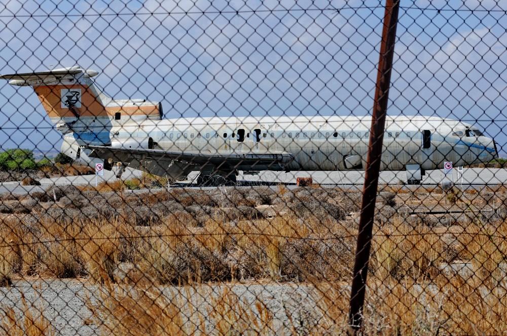 Самолет Hawker Trident в аэропорту Никосии
