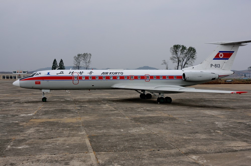 Ту-134 авиакомпании Air Koryo в аэропорту Хамхын
