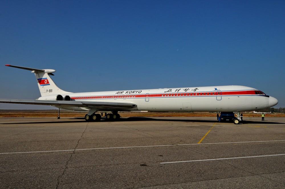 Ил-62 авиакомпании Air Koryo в аэропорту Пхеньян