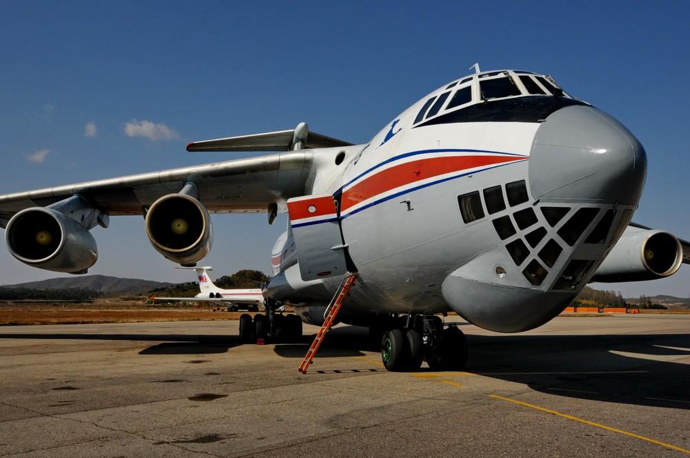 Ил-76 авиакомпании Air Koryo в аэропорту Пхеньян