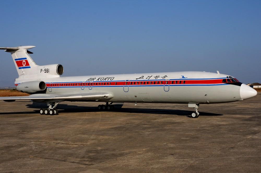 Ту-154 авиакомпании Air Koryo в аэропорту Хамхын