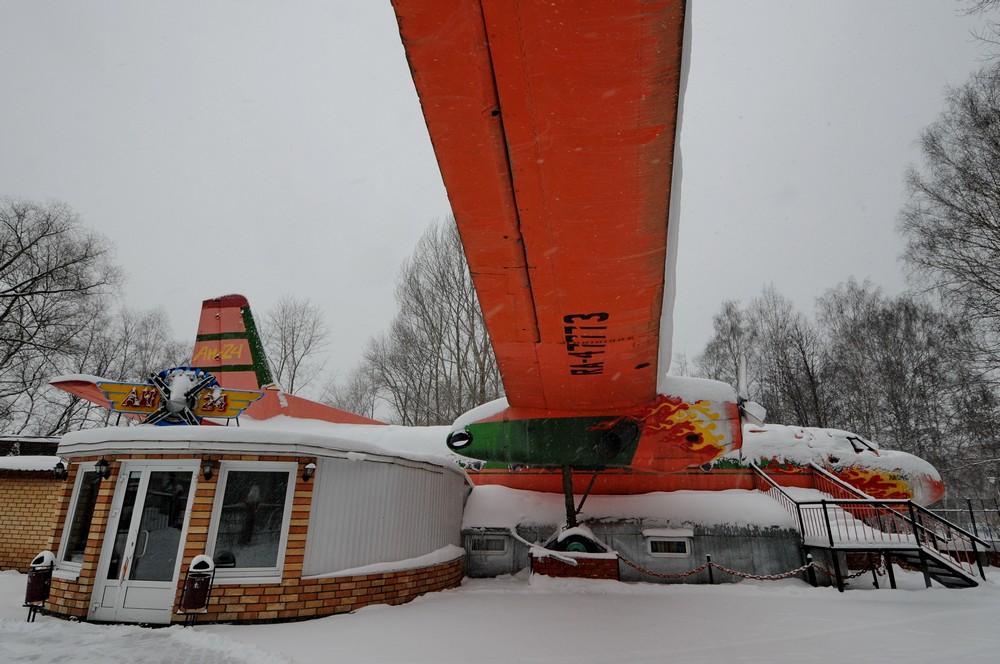 Кафе-самолет Ан-24 в Перми