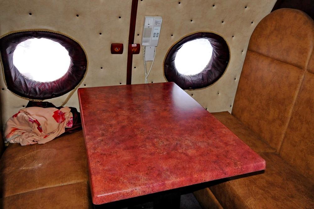 Кабинка в самолете-ресторане. Пермь