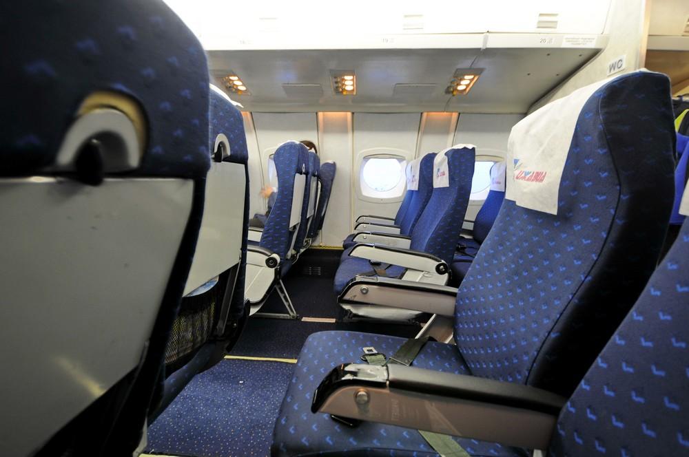 Кресла в самолете Як-42 авиакомпании Ижавиа