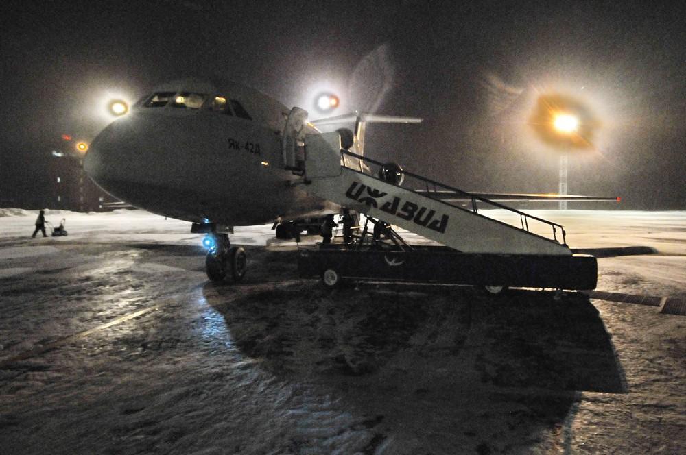 Самолет Як-42. Аэропорт Ижевска
