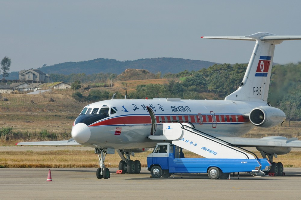 Самолет Ту-134 авиакомпании Air Koryo в аэропорту Пхеньяна