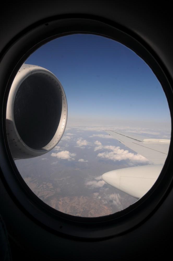 Ту-134 авиакомпании Air Koryo. Вид на двигатель