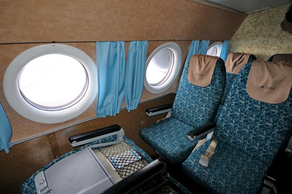 Салон самолета Ту-134 авиакомпании Air Koryo