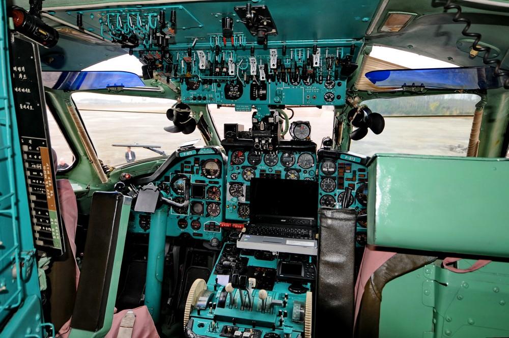 Кабина Ту-134 авиакомпании Air Koryo