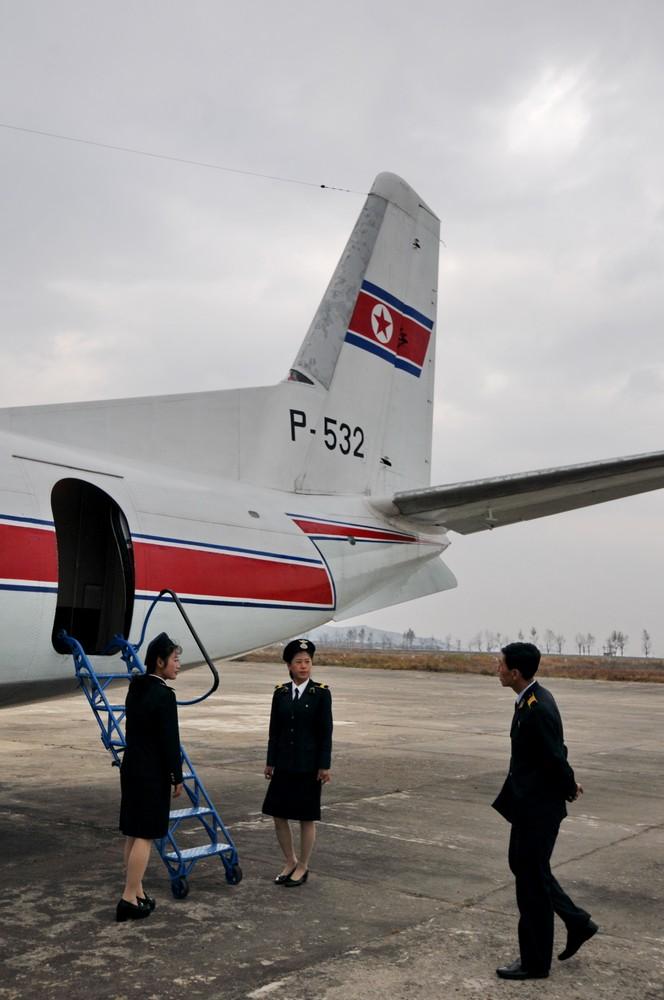 Гражданская авиация Северной Кореи. Посадка в самолет Ан-24