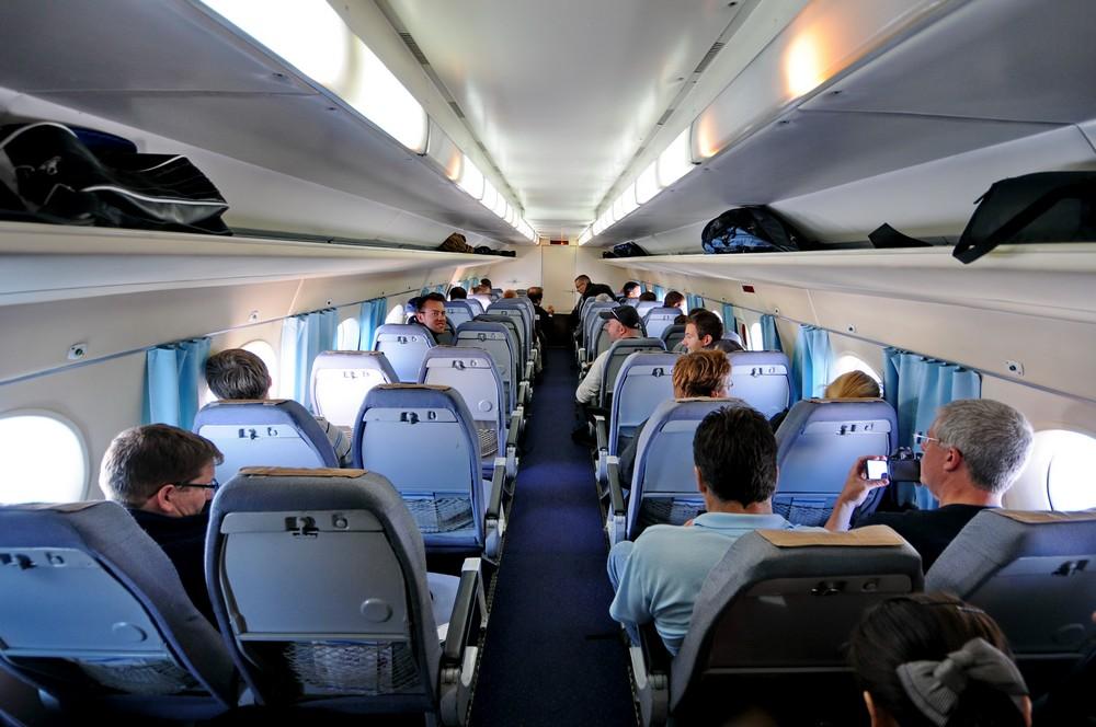 Салон самолета Ан-24 авиакомпании Air Koryo