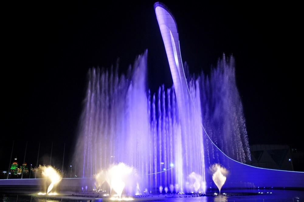 Олимпийский поющий фонтан. Сочи-2014