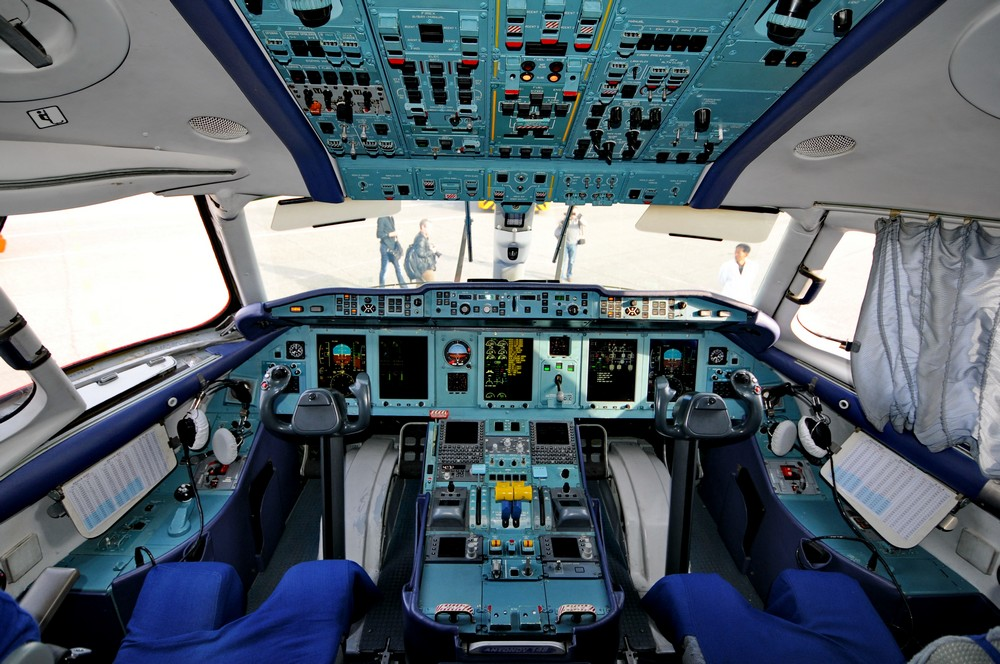 Кабина пилотов самолета Ан-148 авиакомпании Air Koryo