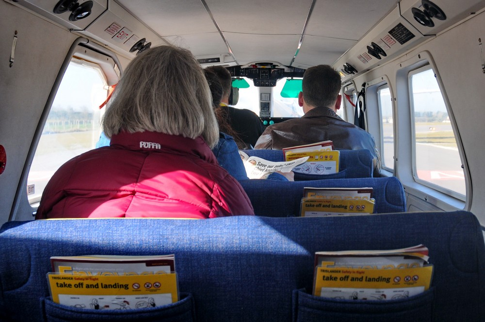 Салон самолета Britten-Norman Trislander авиакомпании Aurigny