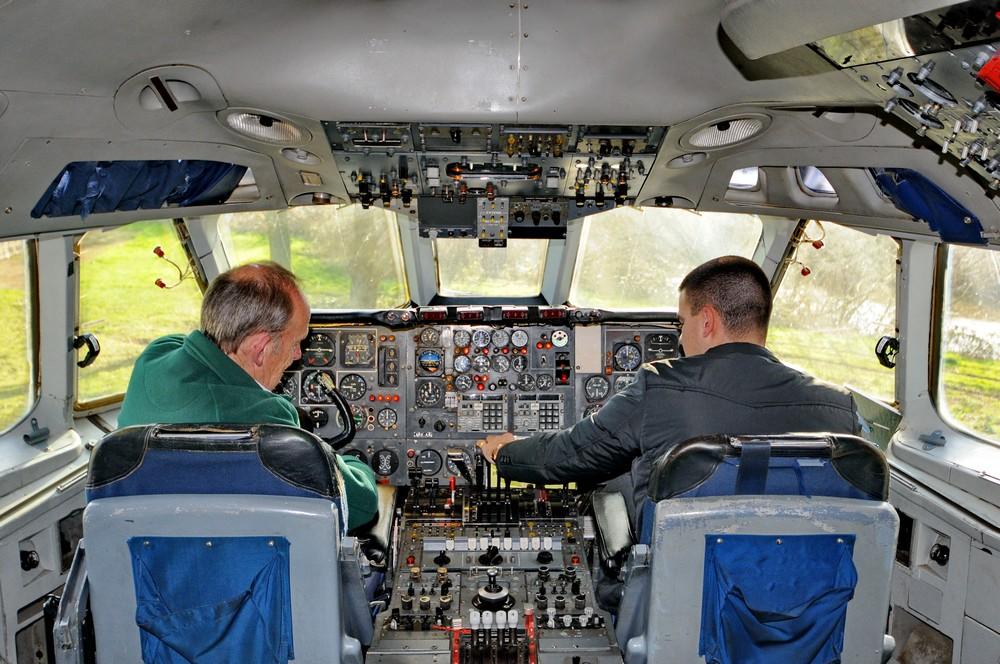 Кабина пилотов в самолете VC-10