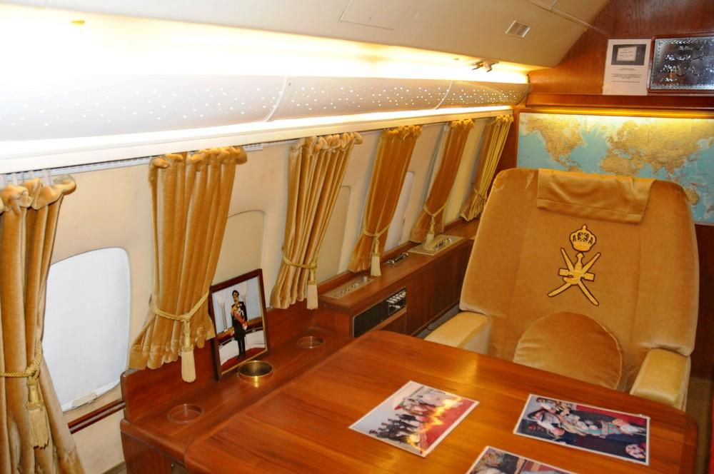 Кабинет главного пассажира в самолете султана Омана VC-10