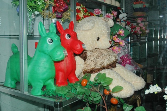 Магазин игрушек в центре Пхеньяна
