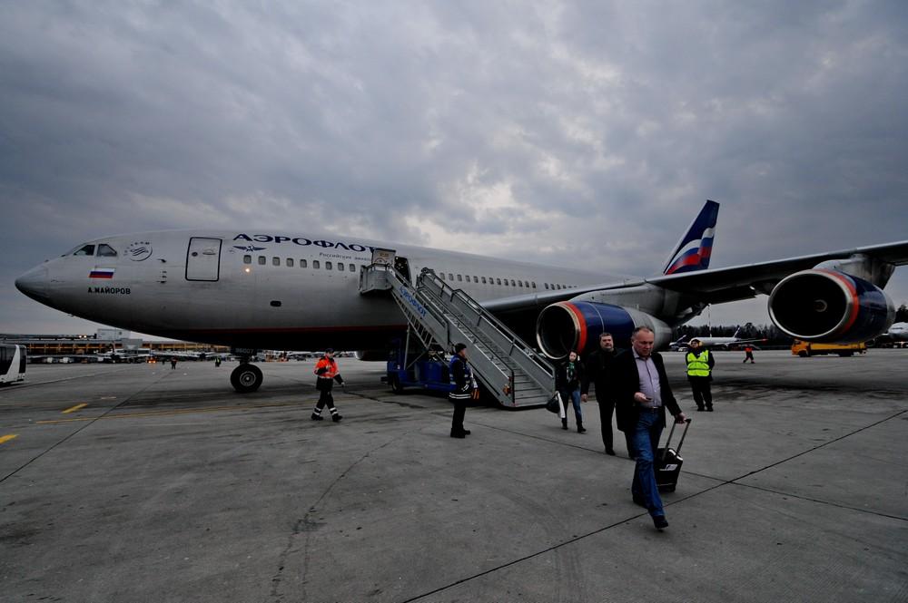 Ил-96 Аэрофлота в Шереметьево