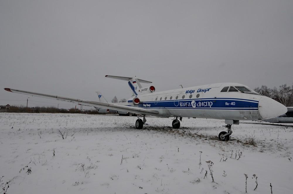 Самолет Як-40 авиакомпании Волга-Днепр в Ульяновском музее авиации