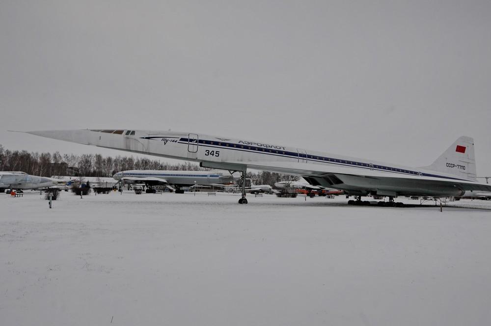 Сверхзвуковой Ту-144 в авиамузее в Ульяновске