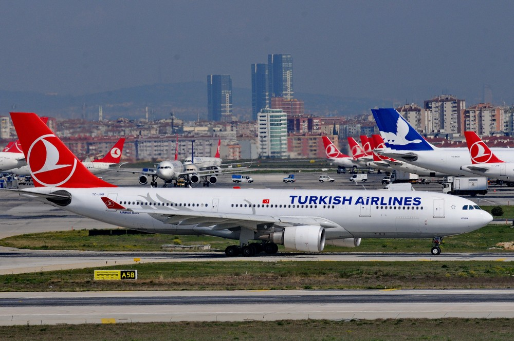 Аэробус-330 Турецких авиалиний в аэропорту Стамбула