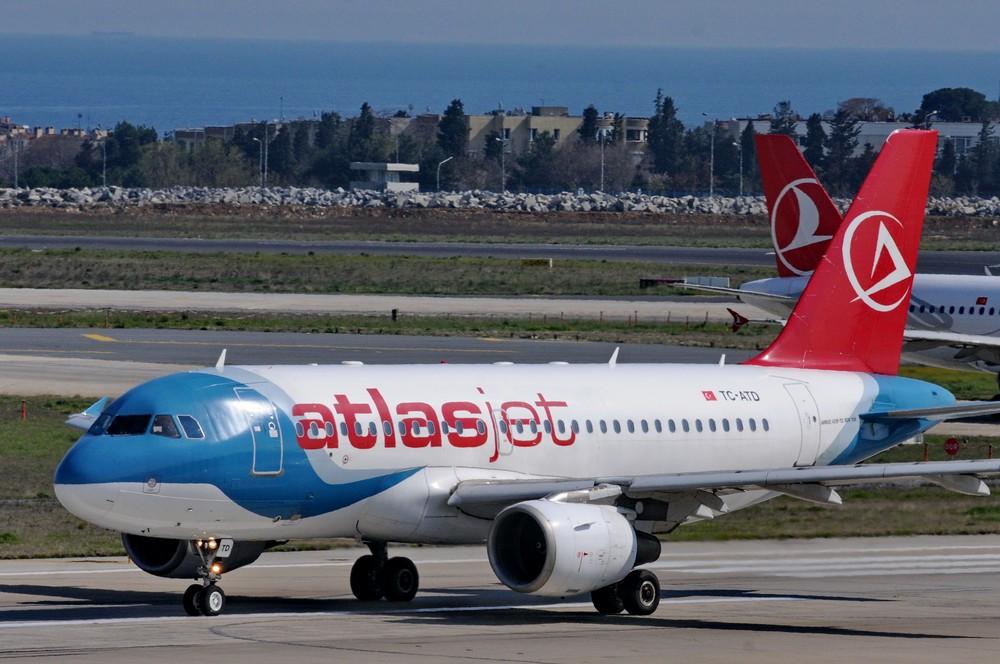 А-320 авиакомпании АтласДжет в аэропорту Ататюрк